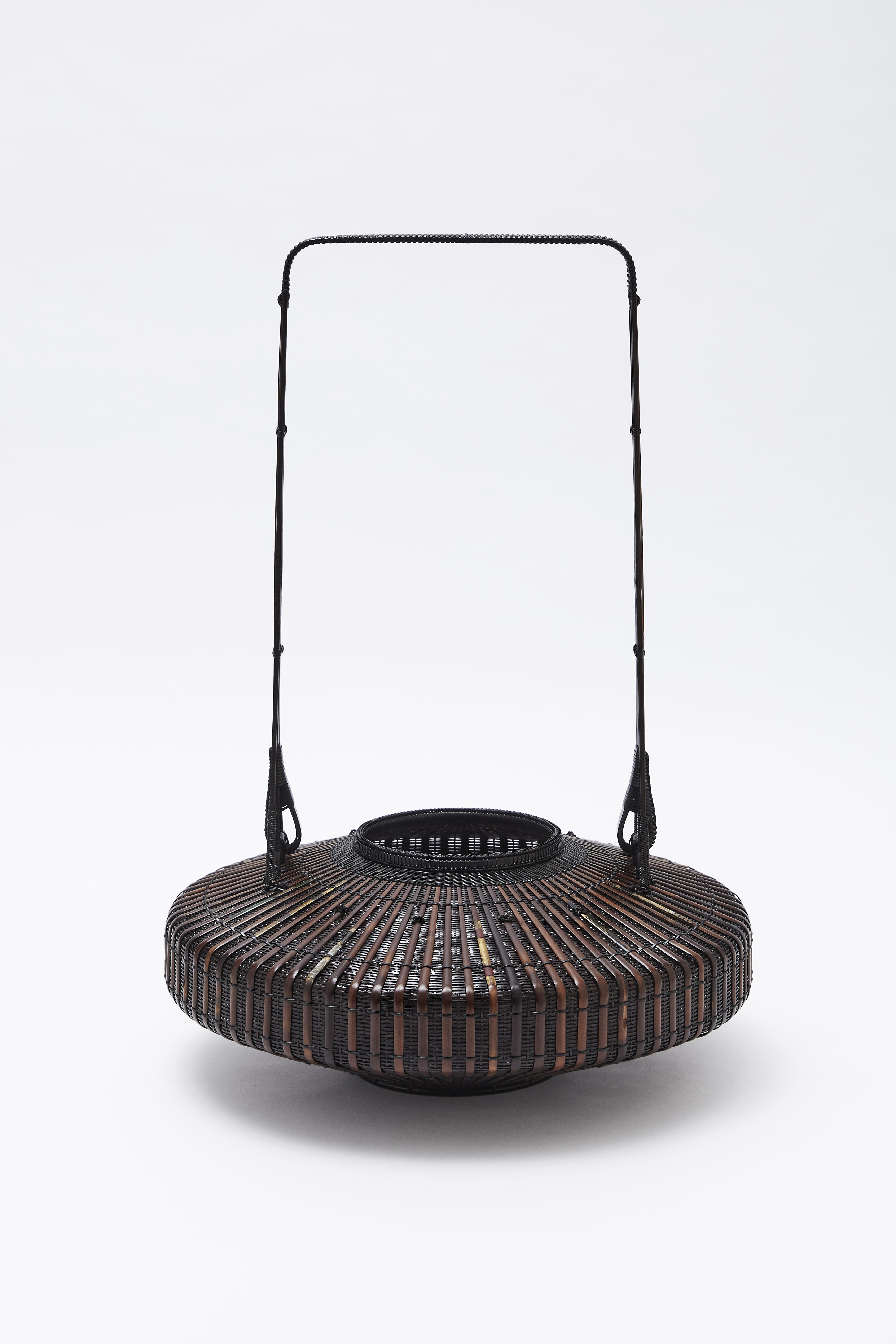 見立て古矢竹 牡丹籃